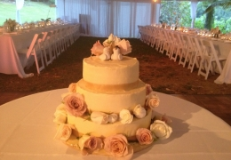 smbali hai wedding cake and tables